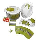 Salatschleuder All in One Chef Salat Set - Waschen Trocknen Hacken Hobeln Schneiden Raspeln und Mehr