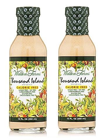 Walden Farms Thousand Island Dressing kalorienfreie Salat Sauce 2-Pack