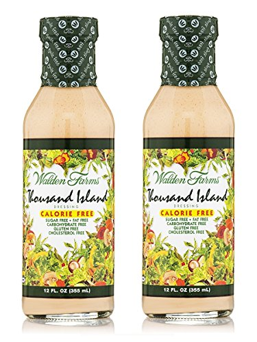 Walden Farms Thousand Island Dressing kalorienfreie Salat Sauce 2-Pack