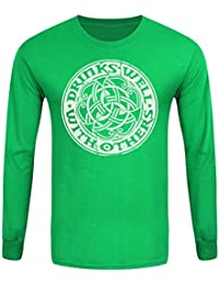 T-Shirt à manches longues Drinks Well With Others Homme Vert