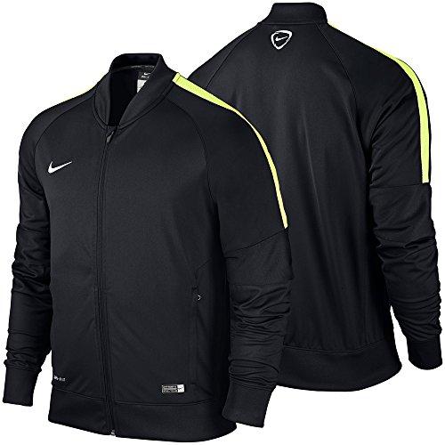 Nike Giacca Squad15SDLN Knit, Uomo, Jacke Sideline Knit Squad 15, Black/Volt/White, S