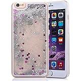 """weggo - Carcasa para iPhone 6Plus/6S Plus (5.5""""), dura, transparente con líquido y purpurina flotante con estrellas"""