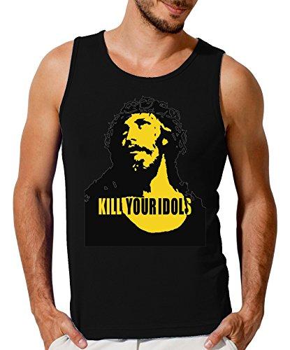 Kill Your Idols Jesus Design Men's Tank Top T-Shirt X-Large