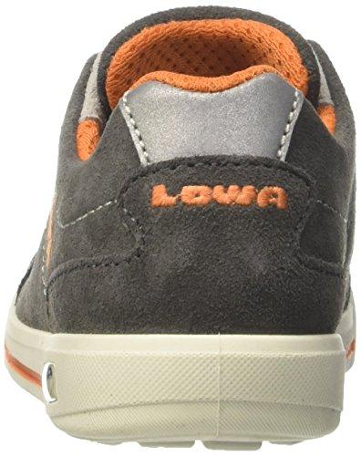 Lowa Unisex-Kinder Palermo Lo Wanderschuhe Grau (Anthrazit/orange)