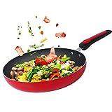 panss Bratpfannen,Pfannen antihaft Grill Omelett-pfannen Multifunktionales kochgeschirr Keramik Anti-adhäsiv Beschichtet Anti-Haft 10 Zoll 26cm-A
