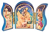 The Healing Corner Mini-Kühlschrankmagnet für Weihnachten, Krippe, Heilige Familie, Jesus in a Krippe, Männer und Weihnachtsengel
