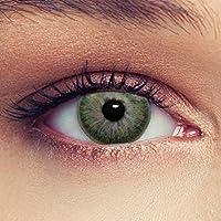 """Lentillas de color verde discretamente colores suaves de un mese sin dioprtías / corregir + gratis caso de lente """"True Green"""""""