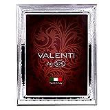 Valenti Argenti Bilderrahmen Silberrahmen Gehämmert Glanzfotorahmen aus 925 Sterling Silber cm 18 x 24