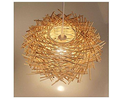 Die Rattan Kronleuchter Lampe's Salon Vogelnest botanischen Restaurant der Farm hotpot Bar der Beleuchtung, 1, 35 cm (Schatten Bambus-designer)
