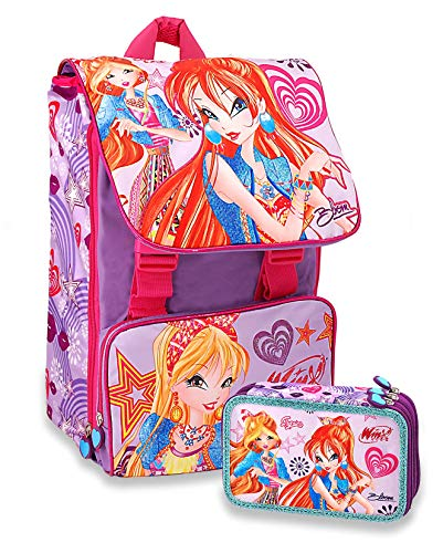 257c96918a9daf WINX CLUB - School Pack Zaino Estensibile + Astuccio 3 Zip