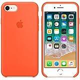 Funda para iPhone 7/8 Carcasa Silicona Suave Colores del Caramelo con Superfino Pelusa Forro,Anti-rasguños Teléfono Caso para Apple iPhone 7/8 (iPhone 7/8, Naranja)