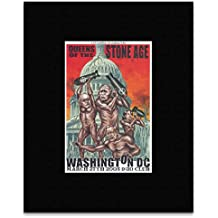 queens of the stone age washington dc 2005 matted mini poster 27 5x17
