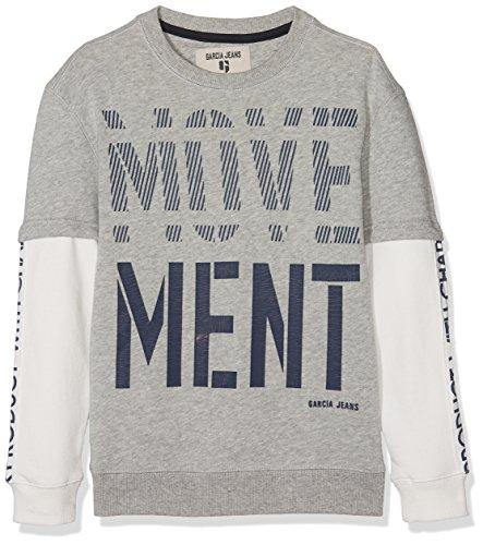 Garcia Kids Jungen Sweatshirt O83463, Grau (Grey Melee 66), 152 (Herstellergröße: 152/158)