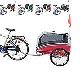 POLIRONESHOP SNOOPY rimorchio per trasporto cani cane animali carrello carrellino trasportino rimorchi da bici bicicletta dog portacani portacane porta appendice x (Rosso, Large)