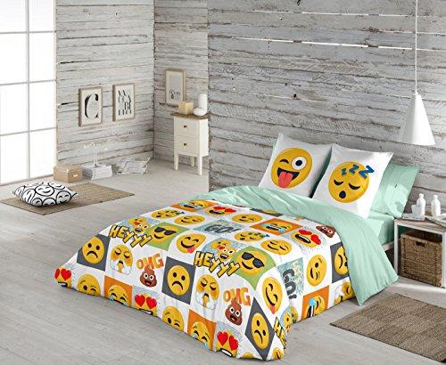 Emoji Funda nórdica Hey para cama de 90 cm