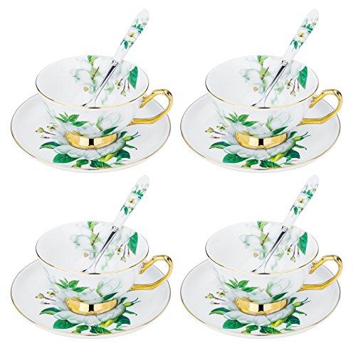 Artvigor, Porzellan Kaffeeservice, 12-teilig Set Teeservice, Beinhaltet je 4 Kaffeetassen 200 ml,...
