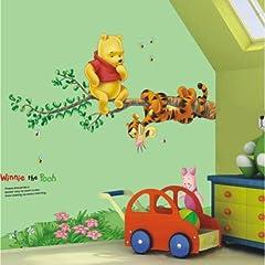 Idea Regalo - Restly (TM) Disney Winnie Camera dei Bambini Pooh Cartoon Piede Wall Stickers Linea Decor