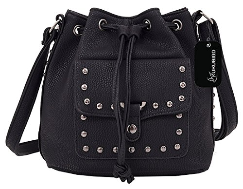 Kukubird Bonnie secchio borsa borsa Casual tutti i giorni con sacchetto raccoglipolvere Kukubird 1Black