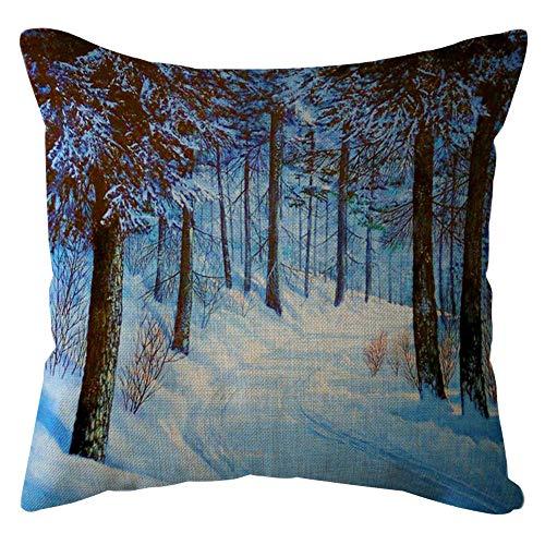 UYSDF Fashion Pillowcase 45 * 45 cm,Cotton Linen Square Home Decorative Throw Pillow Case Sofa Waist Cushion Cover