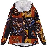 080600ea2c6a Rosennie Damen Winter Jacke Winter Mantel Retro Mantel Steppmantel Frauen  Langarm Vintage Fleece Mäntel Mode Blumendruck