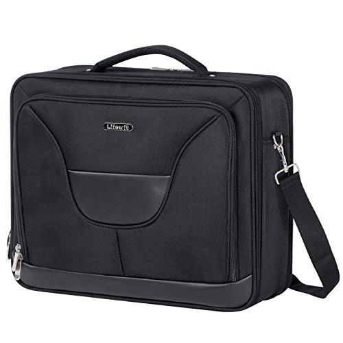 Lifewit Laptoptasche Herren 17.3 Zoll Umhängetasche Schultertasche Messenger Bag Wasserdicht Businesstrip Weekender Schwarz