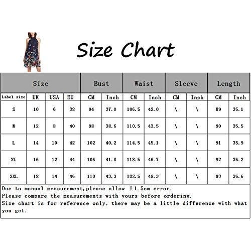 iShine Casual Kleid Damen Chiffonkleid Neckholder Sommerkleid Strandkleid Schwarz B