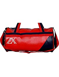 Zyamalox ® Vintage Leather Rite Duffel Gym Bag (Red And Blue)| Trendy And Classic | Light Weight | Strong Stitching...