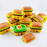 #7: Jiada Burger Style Sharpener & Eraser For Birthday Party Return Gift Pack Of 12