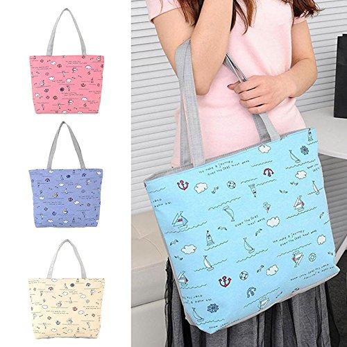 Hrph Ozean-Wind-Segeltuch -Handtasche Preppy Schultasche für Mädchen-Frauen-Handtaschen , nette Taschen Purple