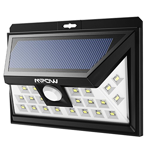 Price comparison product image Mpow Solar Lights Motion Sensor Security Lights,  24 LED Solar Powered Light,  Walkway Lighting Wireless Waterproof Security Light for Patio,  Deck,  Yard,  Garden,  Driveway,  Outside Wall ( 3 Modes Motion Activated,  Wide Angle Sensor )