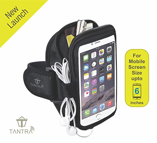 TANTRA® Mobi-Case Adjustable Sports Running, Jogging, Gym Anti-slip Ultra-Light Weight Armband Mobile Holder(Medium Size for Screen size upto 6 inches like iphone 6, 6S plus& Samsung galaxy EdgeS6,S7)