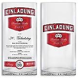 Einladungskarten Geburtstag (40 Stück) Wodka Flasche lustig witzig ausgefallen Party Feier Geburtstagseinladungen Karte Einladungen gestalten | Inkl. Druck Ihrer persönlichen Texte