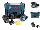Bosch Professional GSS 18 V-10 Akku Schwingschleifer in L-Boxx + 1x GBA 5,0 Ah Akku + GAL 1880 Schnellladegerät