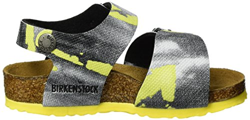 Birkenstock New York, Bride cheville mixte enfant Mehrfarbig (City Camo Yellow)