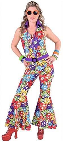 Kostüm Jahre 70er Jumpsuit - M217192-XXL smile Damen Hippie Overall-Catsuit-Kostüm Jumpsuit Gr.XXL