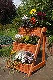 Blumentreppe, Blumenleiter, Pflanztreppe, Pflanzleiter Breite aus Holz, vollständig behandelt in braun