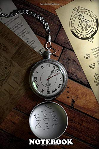 """Notebook: 3d Fullmetal Alchemist Pocket Watch Autodesk Maya Pho , Journal for Writing, College Ruled Size 6"""" x 9"""", 110 Pages"""