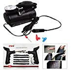 #4: Combo of Air Compressor with Tubeless Tyre Puncture Kit