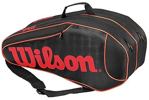 Wilson Erwachsene Sportsack Burn Team Triple BKOR, Schwarz/Orange, 76 x 20.3 x 33 cm, 51 Liter, 0887768343569