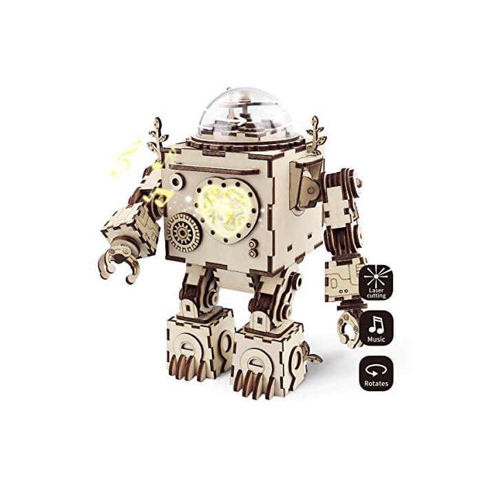 Robotime Laser Cut Holz Puzzle - Erwachsene Modell Kits - DIY Punk Spieluhr - BAU Modell Kits Kaninchen Spielzeug für 8…