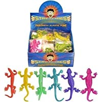 Henbrandt Assorted Colour Neon Stretchy Lizard - PACK OF 24