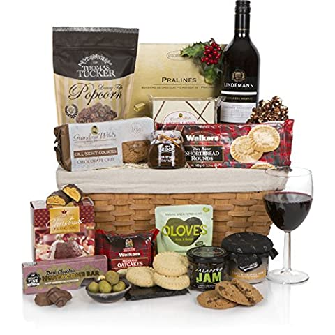 Schlittenglocken Luxus-Weihnachtskorb - Lebensmittel- und Weinkörbe - Ideen für Weihnachtsgeschenkkörbe