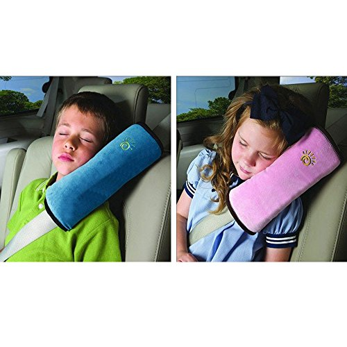 Sicherheitsgurt Kissen, Kinder Auto Sicherheitsgurt Bezüge, Fahrzeug-Schulterpolster für Kind (blau)