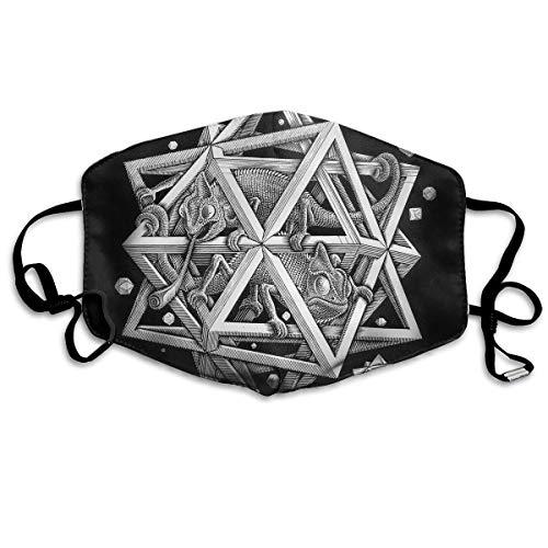 Mundmasken Escher Space Ohrschlaufen Mundmaske – verstellbares elastisches Band für Malerei, Outdoor, Anti-Keime, Anti-Staub-Atemschutzmaske, ()