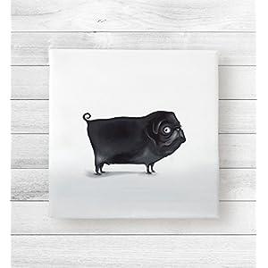 Kunstdruck auf Leinwand Mops Michael (20x20x2) aus der Tierkollektion von Dori´s Room