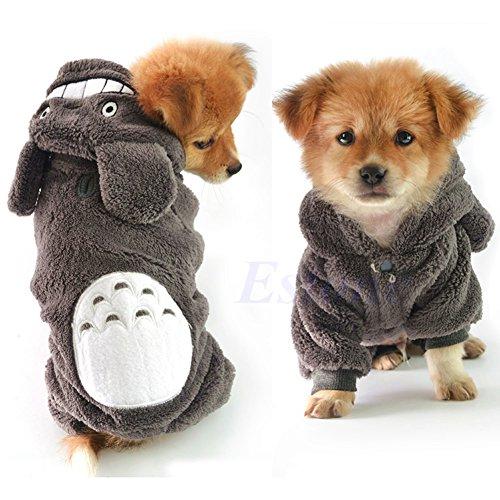 zrshygs Hund Pullover Mantel Totoro Hoodie Kostüm Hund Kleidung Haustier Jacke Mantel Welpen Katze Bekleidung Winter Warme L