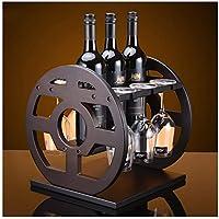 XIUXIU Decoración de estantes para vinos Creativo Moderno Moderno Minimalista Marco de Madera Maciza Personalidad Familiar