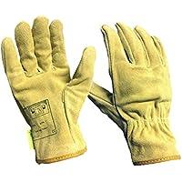 Sharplace Par Soldadura Guantes De Protección Soldador Herramientas de Jardinería Ropa de Color Amarillo Claro