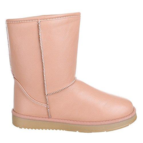 Chaussures, tD, 12–doublure chaude, bottes femme Beige - Beige Rosa