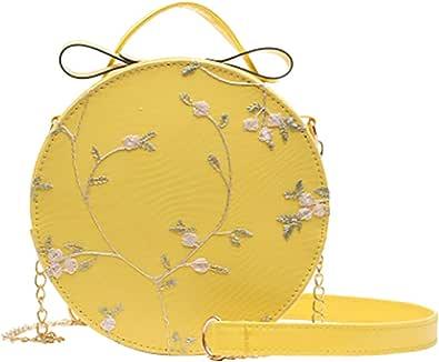 Allence Damenmode Spitze Handtasche Umhängetasche Einfarbig Kleine Runde Tasche